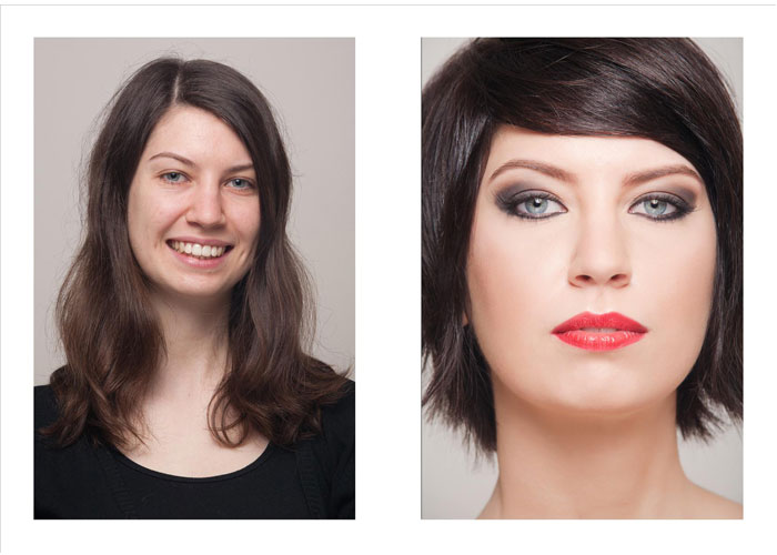 Before & After makeup design by Elisa Lago