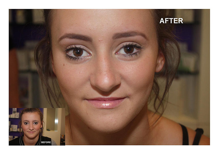 Before & After the Elspa Couture Eyebrow service