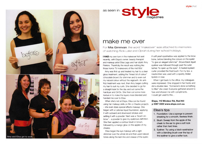 Published in the Style Magazine