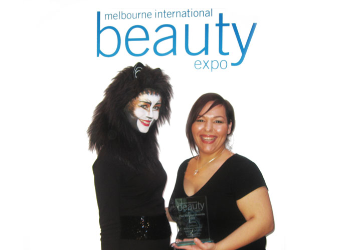 Winner of fantasy makeup at Melbourne beauty expo