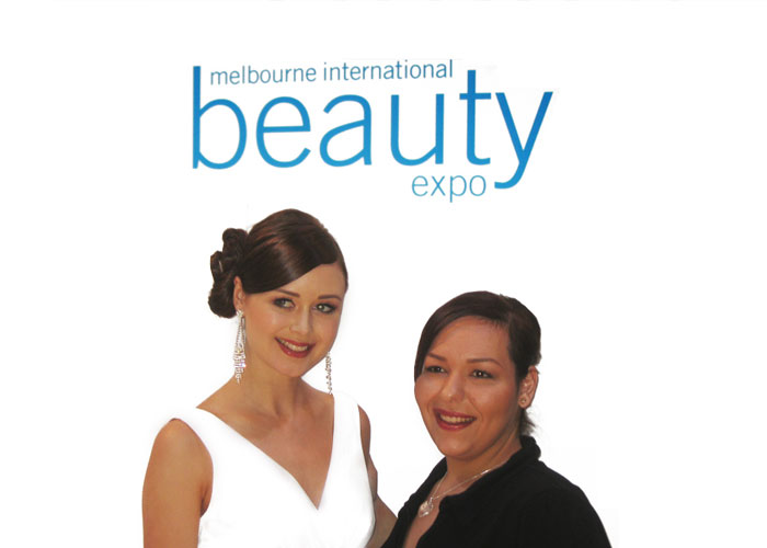 winner of bridal makeup at Melbourne beauty expo